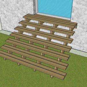 plan de l'escalier