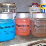 différents pigments