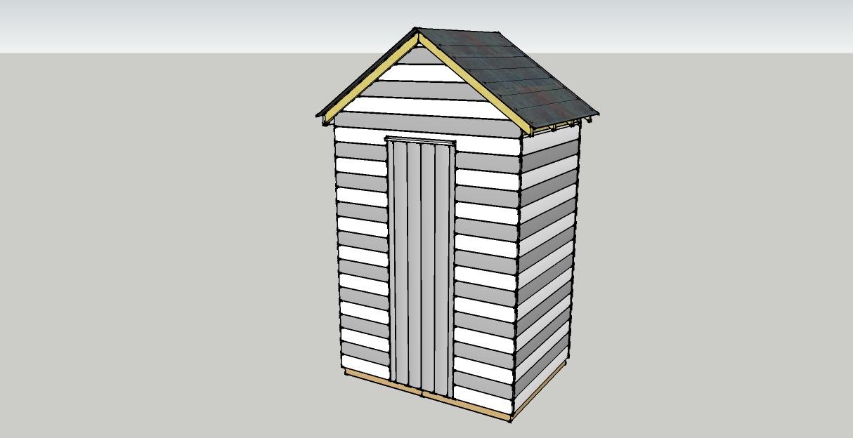 cabane type cabine de plage d pendances bois. Black Bedroom Furniture Sets. Home Design Ideas