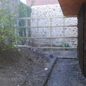 cloison pour fermer le jardin