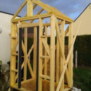 structure avec le toit